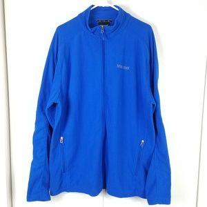 Marmot royal blue fleece zip-up jacket size XXL
